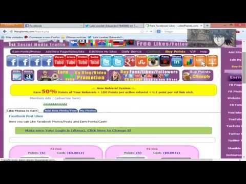 LIKES PLANET Pagina que aumenta tus likes en facebook y tu popularidad e...