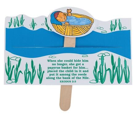 Baby Moses - Children can help carry out God's plan by sending Moses down the Nile in a basket to save him from Pharaoh. A great way to teach one of the most popular bible stories. Kids can repeat his journey again and again!