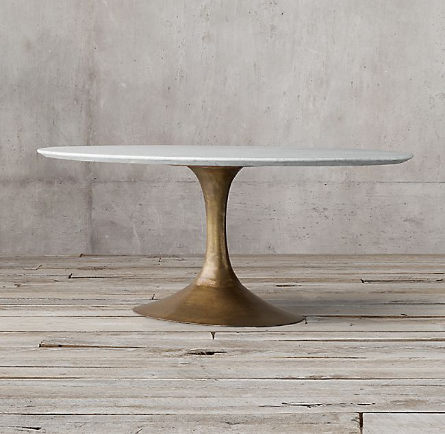 Aero Marble Oval Dining Table Dining Table Metal Base Dining
