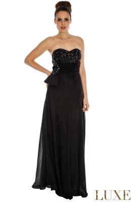 Krásne šaty spoločenské Jewelled Bandeau Chiffon