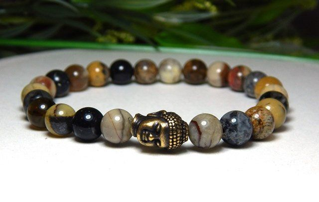 Mens Buddha Head Bracelet