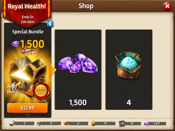 Siegefall   IAP   Gem Shop   Promo Pull Out   UI HUD User Interface Game Art GUI iOS Apps Games   Gameloft   www.girlvsgui.com