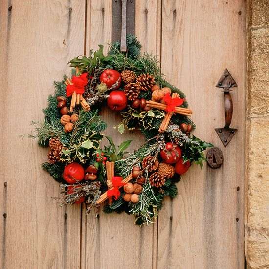 Decorate your front door with a lovely festive wreath