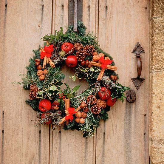 Ρουστίκ Χριστούγεννα στεφάνια | ιδανική Κατοικία