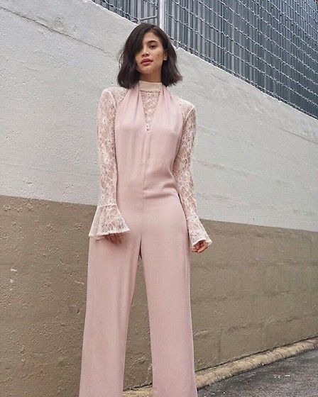 Get this look: http://lb.nu/look/8769597  More looks by Anne Curtis smith: http://lb.nu/anneh  Items in this look:  Jumpsuit, Lace Bell Sleeve Top   #casual #chic #classic