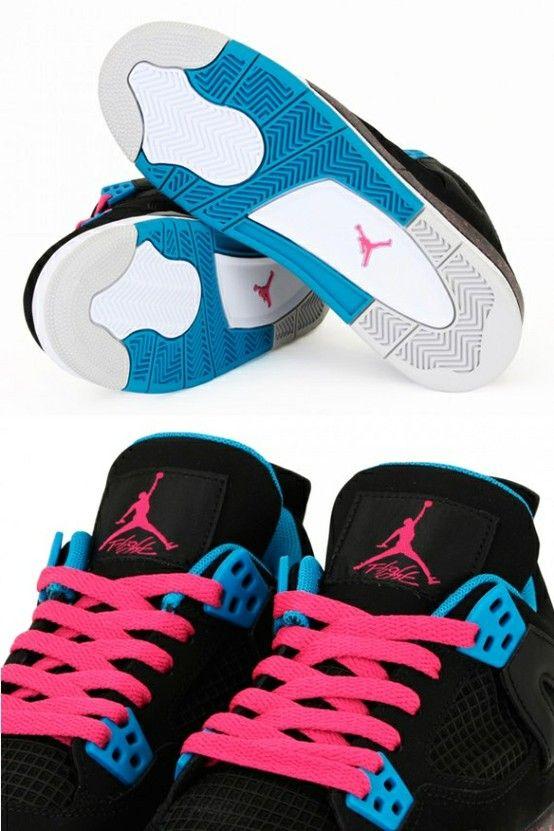 Pink and black Jordans