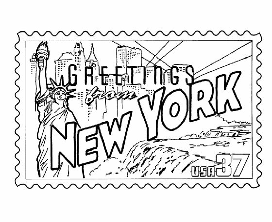 nyc coloring pages - photo#7