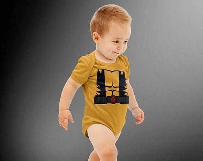 FLASH SALE Wolverine X-Men Costume Onesie | Baby Super Hero | Halloween Costume | Kids Cosplay | Baby Shower Gift | Wolverine | Marvel | X-Men  #ad