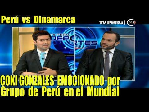 Coki Gonzales EMOCIONADO x Grupo de Perú en el Mundial / TV PERU DEPORTES - YouTube