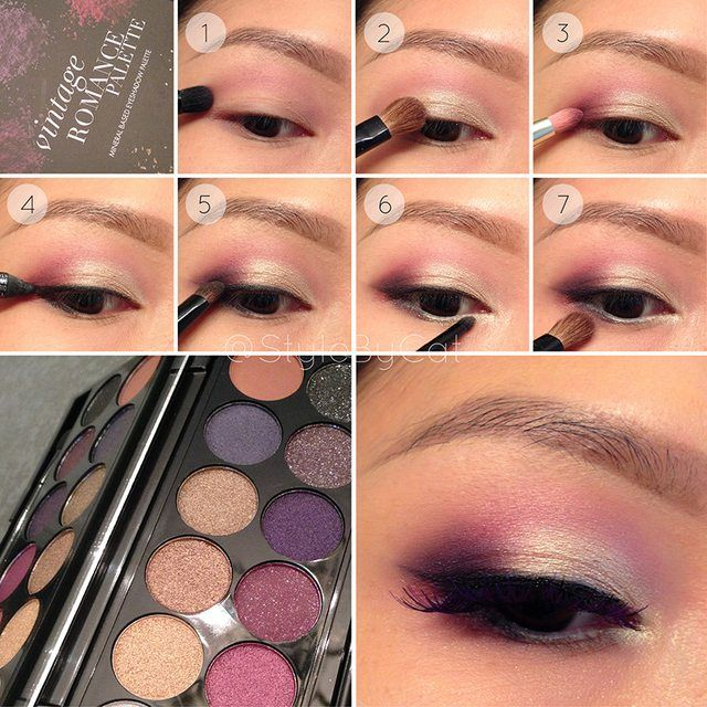 White Gold and Wine eye makeup tutorial with Sleek Vintage Romance palette