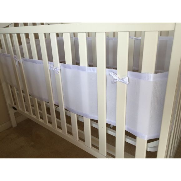 white breathable bumper baby
