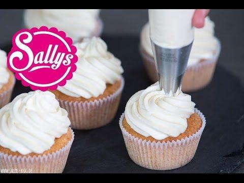 Mascarpone-Sahnecreme / Frischkäse-Sahnecreme / Grundrezept Topping für Cupcakes / Cake Basics - YouTube