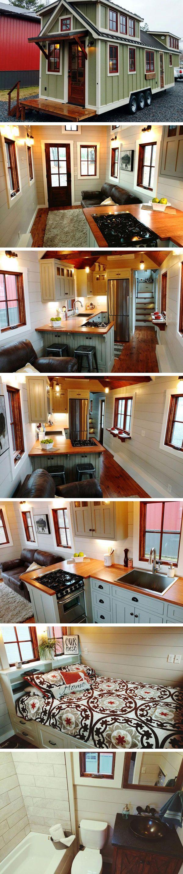 Дом на колесах Luxury Farmhouse от Timbercraft Tiny Homes  #tinyhomesdigest #tinyhouse #countrylife #backyard #houseonwheels #camper #travel