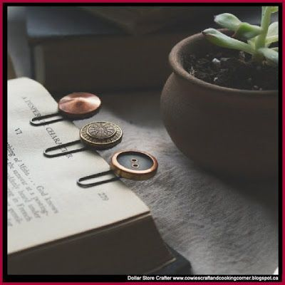 Turn Grandma's Button Collection Into Bookmarks For All The Mothers In Your Family This Mother's Day