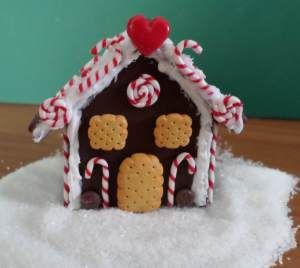 polymer gingerbread house 7