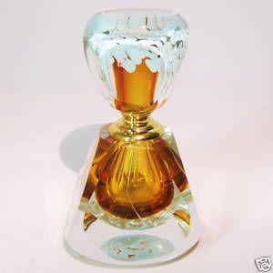 Murano Design Glas Flakon Perfume Bottle Drehverschluss