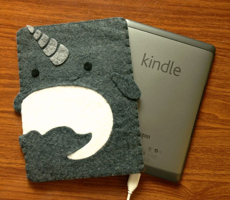 Narwhal Kindle Cozy by lifegeekery on Etsy