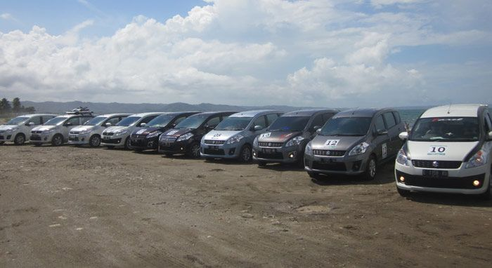 Menjajal Wisata Pantai Pangandaran Bersama Ertiga Mania Cirebon