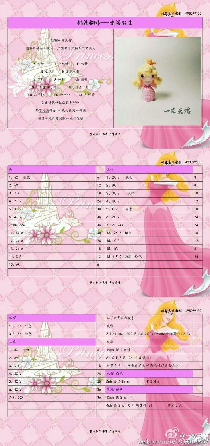 Princess Aurora Amigurumi
