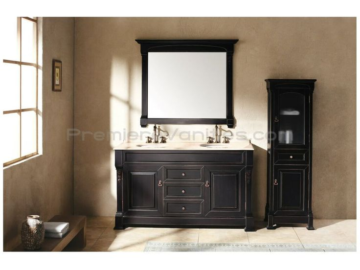 60 Inch Double Sink Vanity With Black Finish Double Bathroom Vanities Premiere Vanities
