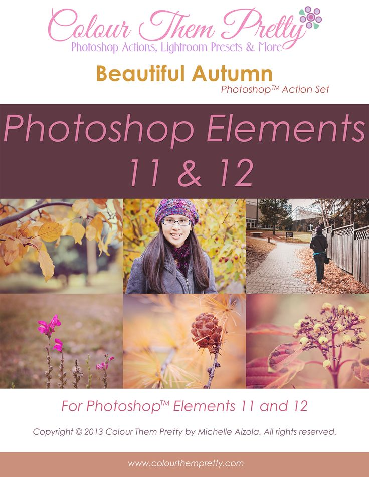36 Photoshop Elements Actions - Beautiful Autumn