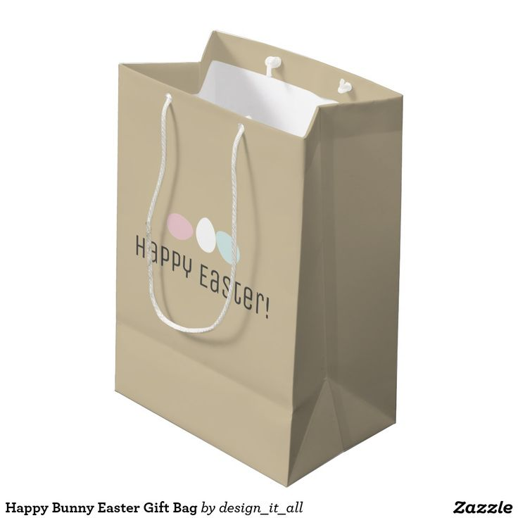 The 7 best happy easter images on pinterest happy easter happy happy bunny easter gift bag negle Images