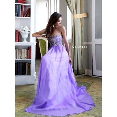 2014 Sherri Hill 3908 Rushing Skirt Prom Dress Light Purple