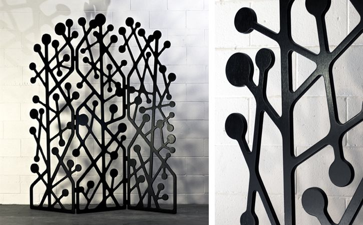 Room divider designed by Australian industrial designer Surya GrafBotany Screens, Botanyroom Dividers, Inspiration Botanyroom, Folding Screens, Roomdivider, Botany Room, Furniture, Industrial Design, Surya Graf