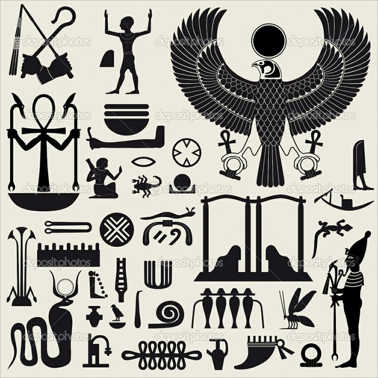 egypt stencils | Egyptian Symbols and Sign SET 2 | Stock Vector © ArtyUP #5872428