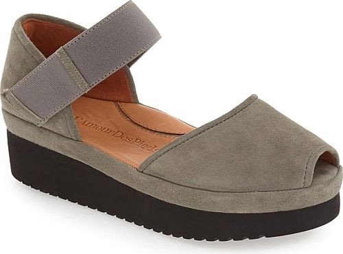 1f1c6231b9f L Amour des Pieds Women s Shoes in Gray Suede Leather Color. A chunky foam  platform gives a retro-inspired lift to a trend-savvy leather sandal fit…