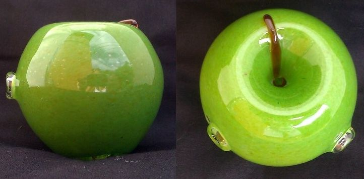 Handblown Green Apple Glass Pipe