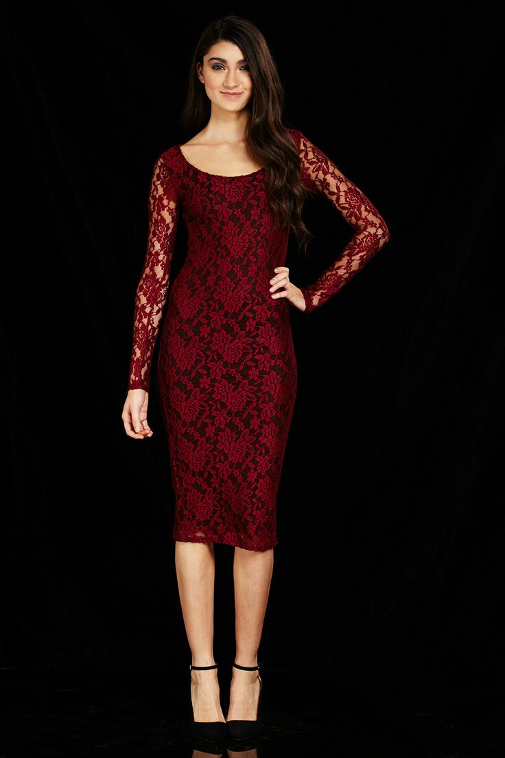 Romantic Evening Floral Lace Midi Dress Only $19.99