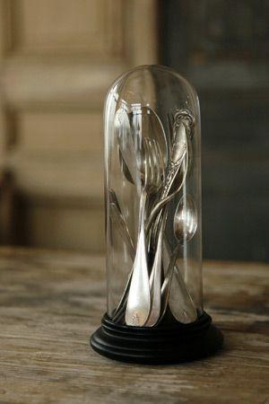 Silverware as artful objet.