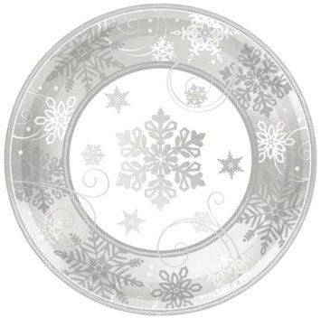 Custom \u0026 Unique Inch 8 Count Multi-Pack Set of Big Extra Large Size Round Circle Disposable Paper Plates w/ Festive Modern Sparkling Snowflake Frozen ...  sc 1 st  Pinterest & 67 best \u003e HOLIDAY \u003c images on Pinterest | Bonjour Fiesta party and ...