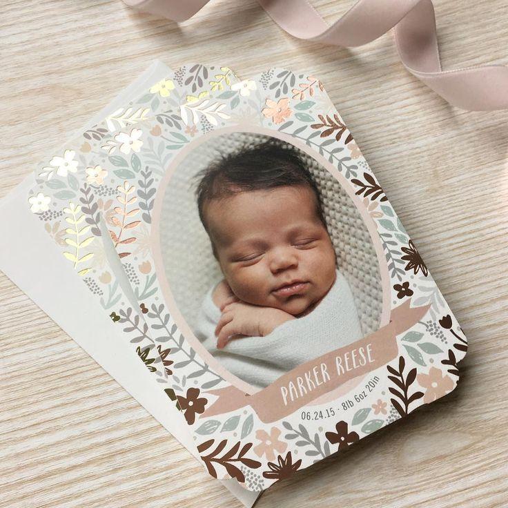 645 best Birth Announcements images – Unique Birth Announcement Cards