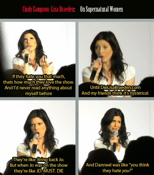 Cindy Sampson and the treatment of women on the show by the fans. GIFset