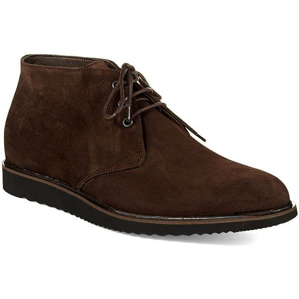 Bruno Magli Men's Erasmo Chukkas (2 560 ZAR) ❤ liked on Polyvore featuring men's fashion, men's shoes, men's boots, brown, mens suede boots, mens brown suede shoes, mens suede shoes, bruno magli mens shoes and mens brown boots