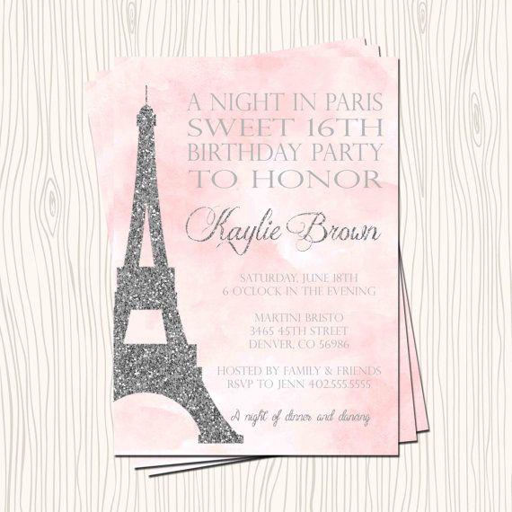 Sweet 16 Sixteen Night in Paris Eiffel Birthday Party ...