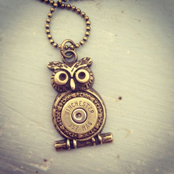 Cute Owl Bullet Necklace Bullet Jewelry Owl by AltogetherLvly, $20.00