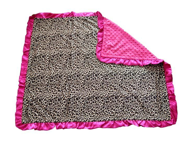 High Quality Hot Pink Cheetah Minky Blanket #clearance #daily-deal #daily-deals