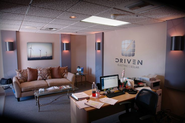 Driven Electric interior branding. Contact DesertWraps.com in Palm Desert, CA at 760-935-3600. Servicing businesses in Indio, La Quinta, Indian Wells, Palm Desert, Rancho Mirage, Cathedral City, Palm Springs, Huntington Beach, Woodland Hills and beyond.