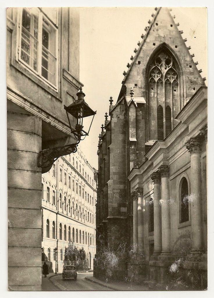 stamp and postcard: The look of Bratislava 2.10.circa 1966 frantiskansky kostol
