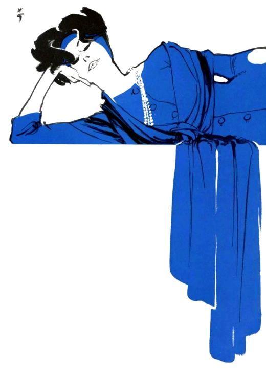 Rene Gruau NOMAD BLUE http://www.nomad-chic.com/