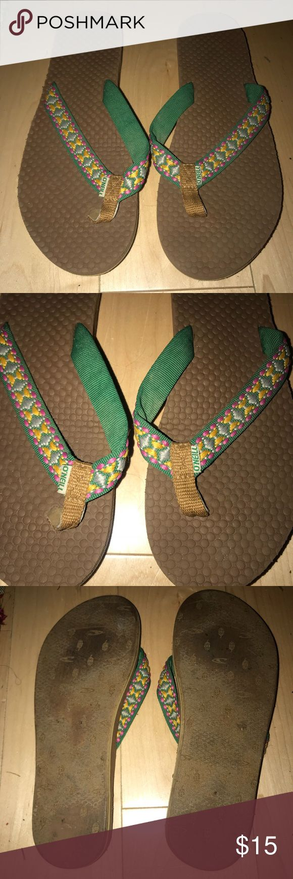 Reef multicolor sandals size 8 Reef multicolor sandals size 8  Worn once or twice maybe just in storage . Super comfy Reef Shoes Sandals