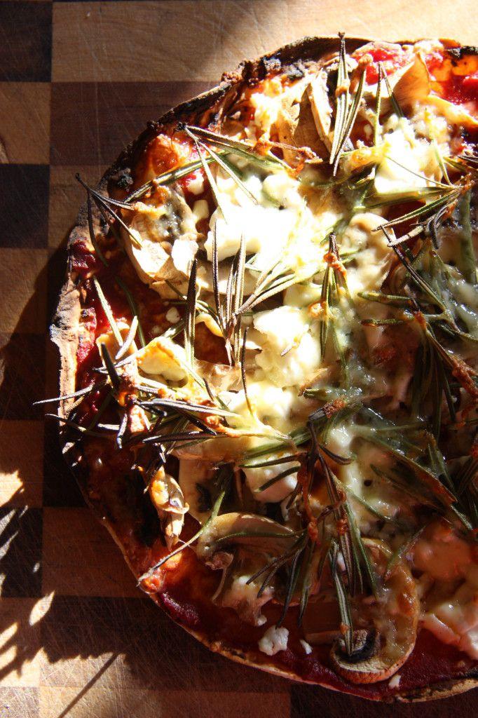 Gluten Free, Vegetarian Mushroom and Fetta Pizza Recipe