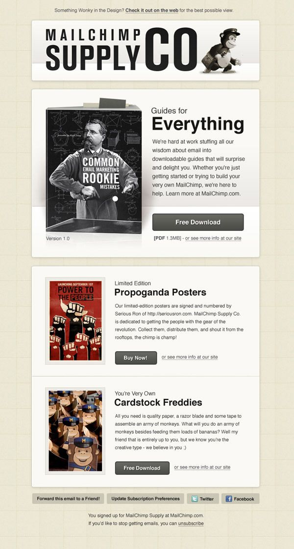 mailchim templates - 112 best images about email newsletter designs on