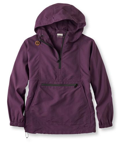 Purple and ready for weather!  Fits in the pocket to store.  This would be great for camping.