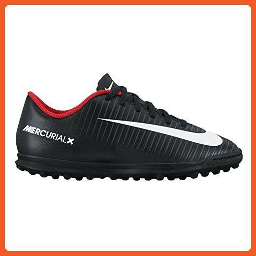 Nike Kids Mercurial Vortex III TF Soccer Little Kid/Big Kid Black/White/Dark Grey Kids Shoes - Athletic shoes for women (*Amazon Partner-Link)