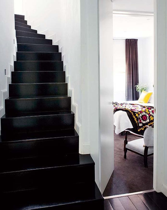 The stairs would look a million times better is we painted them high gloss black.