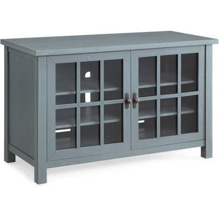 "Better Homes and Gardens Oxford Square Blue TV Stand and Console for TVs up to 55"" - Walmart.com"
